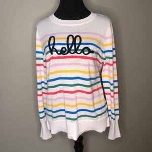 Time & Tru Hello Sweater